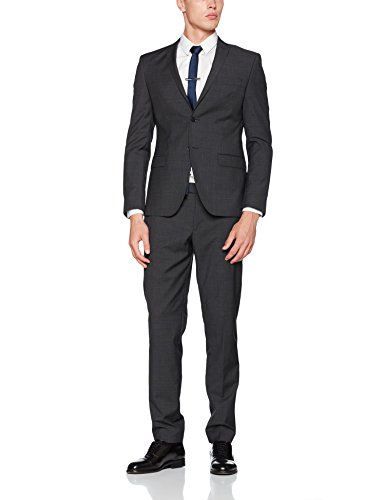 s.Oliver BLACK LABEL Herren 23707848303 Anzug, Grau (Anthracite Grey 98W1), 46