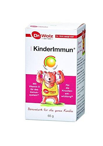 Kinderimmun Dr. Wolz | Ausgewählter Wirkkomplex | Reich an Vitaminen | Immunsystem * | Für Kinder Ab 2 Jahren | 65g Pulver