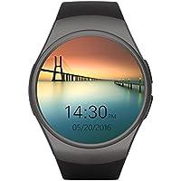 Teléfono con Bluetooth Smart Watch King-Wear KW18 Tarjeta SIM con TF SmartWatch con frecuencia cardíaca (Color: Negro)