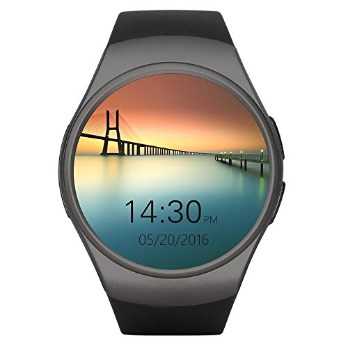 Teléfono con Bluetooth Smart Watch King-Wear KW18 Tarjeta SIM con TF SmartWatch con frecuencia cardíaca (Color: Negro)