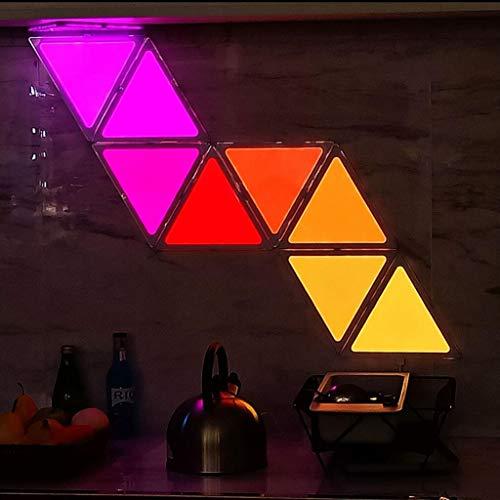 Intelligentes Umgebungslicht, intelligente Lichtplatten, Kombination aus Dreiecken, LED-Licht Quantum, steuerbare App, dekoratives Licht., 1pac