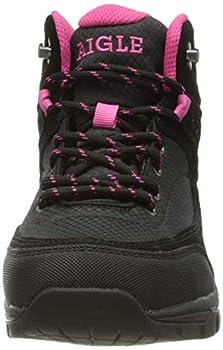 Aigle Vedur Mid W MTD, Chaussure de première randonnée Femme, Black/Fuschia, 37 EU