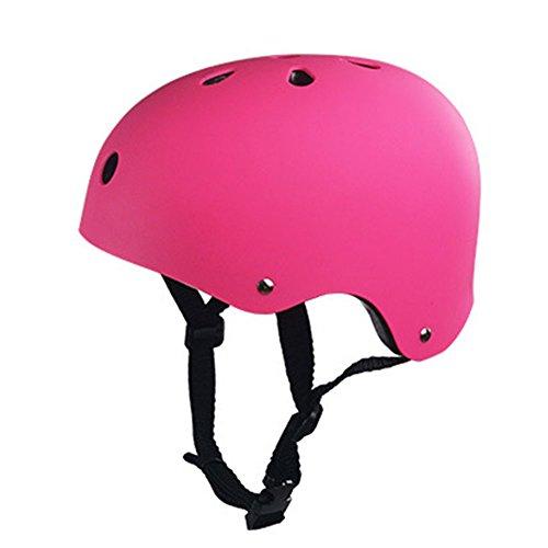 Matedepreso Outdoor-Kletterhelm, Fahrradhelm, ideal für Reiten, Radfahren, Street Dancing, Skaten oder andere Outdoor-Sportarten., nicht null, rose, M