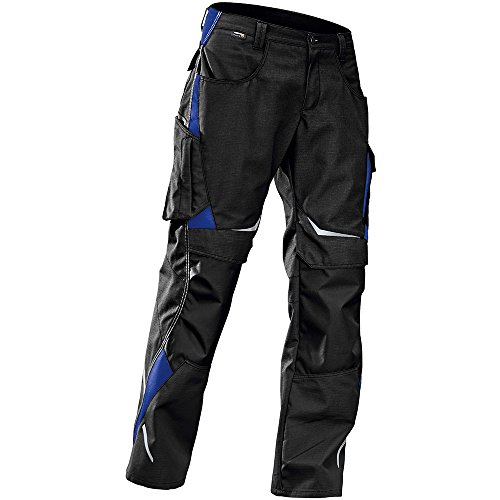 Kübler 24245353-9946-52 Arbeitshose Pulsschlag mit Seitentaschen, schwarz/kornblumenblau, 52