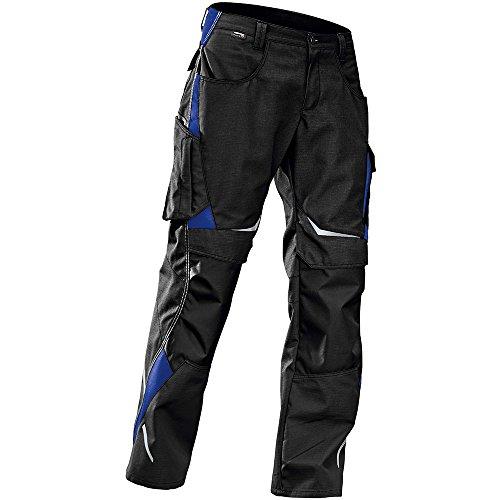 Kübler 24245353-9946-50 Arbeitshose Pulsschlag mit Seitentaschen, schwarz/kornblumenblau, 50