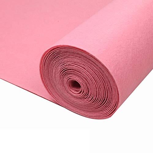 Corredores de Alfombras Rosadas para El Pasillo Alfombra para Boda Corredores de Pasillo de Boda desechables de 2 Mm de Grosor para Exteriores En El Interior Alfombra (Size:1×10m(3×33ft),Color:Rosa)