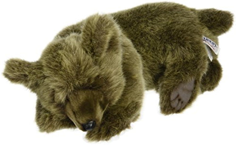 Hansa Sleeping Bear Plush, braun by Hansa
