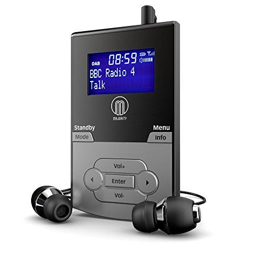 Majority Petersfield - Persönliche Tragbare DAB/DAB+/UKW Digital-Radio - Nachladbare 9-12 Stunden Wiedergabe - 20 Voreinstellungen - Kopfhörer inklusive