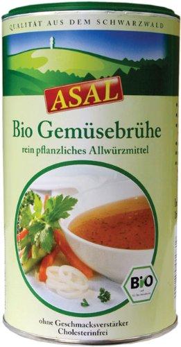ASAL Bio Gemüsebrühe 540g für 30 Liter - klare Suppe ohne Geschmacksverstärker und Konservierungsstoffe, Bouillon zum Würzen und Verfeinern, vegan und glutenfrei