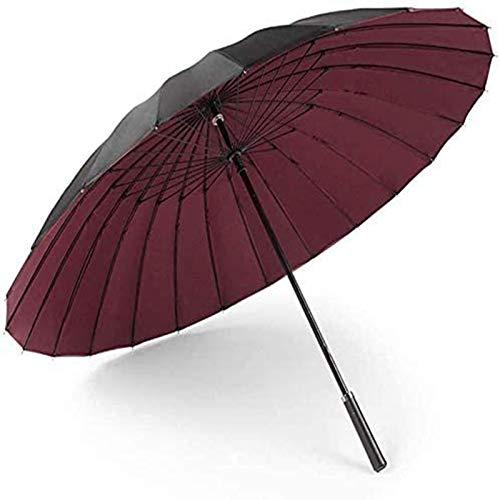 MGEE 24 paraguas recto de mango largo doble capa para hombres y mujeres, paraguas de viaje al aire libre UV paraguas de playa (color: A)