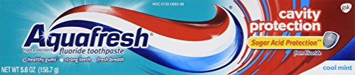 Aquafresh Cavity Protection Tube Cool Mint 56 Ounce Pack of 3