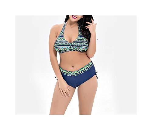 QIKC Il Nuovo Commercio Estero Ms Donna Big Yards Fassion Bikini Speed Sell Attraverso Costumi da Bagno all'Ingrosso (Colore : Broccoli, Size : 56)