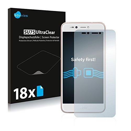 Savvies 18x Schutzfolie kompatibel mit Wiko Upulse Lite Bildschirmschutz-Folie Ultra-transparent