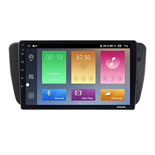 ADMLZQQ para Seat Ibiza 2009-2013 Android 9.0 Doble DIN Radio Coche Navegación GPS, Pantalla Táctil De 9 Pulgadas, FM/Bluetooth/USB/Controles del Volante/Cámara Trasera,WiFi: 2+32g