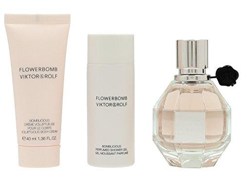 Viktor & Rolf FlowerBomb Set Femme/donna, Eau de Parfum vaporisateur/Spray, Show ergel, Crema per il Corpo, 1er Pack (1X 140ML)