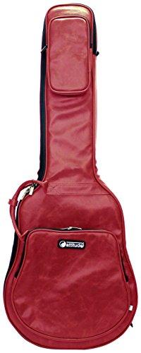 Attitude SSH25801 Lederlook Studio Tasche für halbakustische Gitarre glänzendes rot