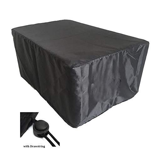 YYQIANG - Fundas rectangulares para muebles con cordón, 100% impermeables, ideales para muebles de jardín/patio/patio abierto, fibra de poliéster, fibra de poliéster, 170X94X70CM