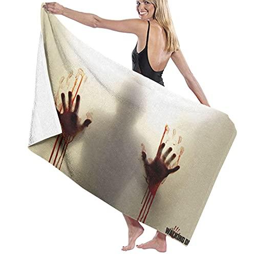 The Walking Dead Toallas de playa ultra absorbentes toalla de baño de microfibra para hombres y mujeres niños