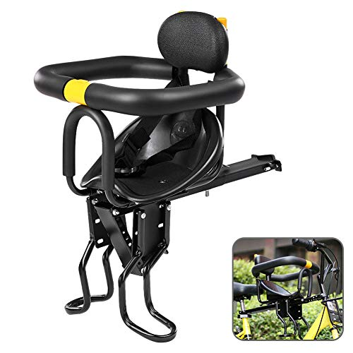 LILYPELLE Child Bike Seat, Baby Chair, Child Seats, Baby Kids' Bicycle Carrier for Children 2.5-6 Years (up to 110 Pound), Quick Dismounting Baby Bike Seat with Armrest and Pedal Easy to Installment