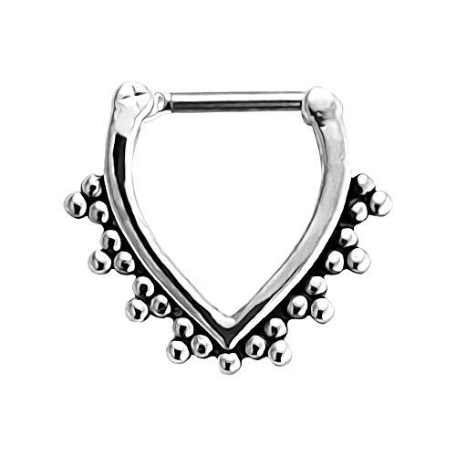 V Form Stammes-Dot 316L Chirurgenstahl 16 Gauge Clicker Septum Nase Ring Piercing