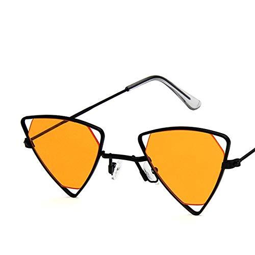 XIELH Occhiali Da Sole Occhiali da Sole da Donna retrò Triangolare Arancio da Uomo Donna Ciclismo Sci da Pesca Guida Occhiali da Sole Protezione UV