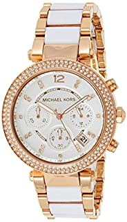 Michael Kors Damen Chronograph Quarz Uhr mit Edelstahl Armband MK5774 (B00BFO9PVK) | Amazon price tracker / tracking, Amazon price history charts, Amazon price watches, Amazon price drop alerts