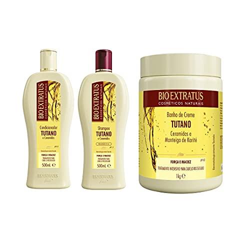 Kit Shampoo+Condicionador 500g+Máscara 1kg Tutano BioExtratus