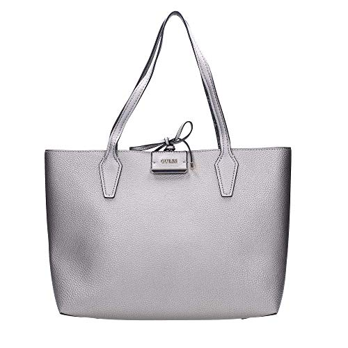 Guess Bobbi Inside Out Pewter Logo Shopper HWSM64-22150-PWL