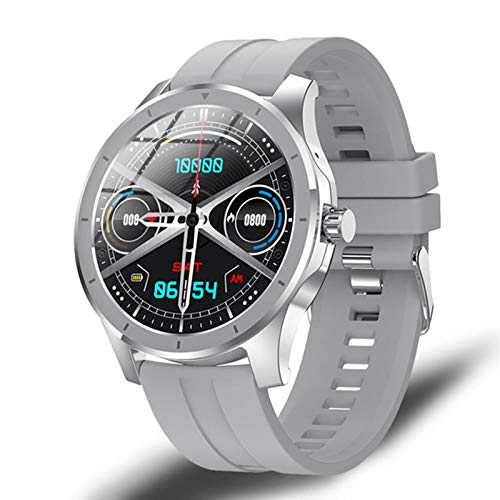 ZGLXZ La Nueva Música MX10 Smart Watch, Utilizada para La Pantalla Redonda Bluetooth Call Watch 512M Local Music Storage IP68 Impermeable, Adecuado para Android iOS,D