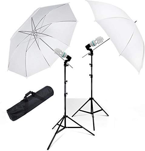 "NEOHOOK Photography Photo Portrait Studio Day Light 33"" Translucent Natural Lighting White Umbrella Continuous Lighting Kit"