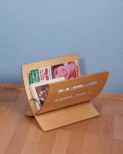 Iovivo Zeitungsständer aus Formholz klassisch, 36x28x29 cm braun