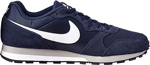 Nike - MD Runner 2 - Color: Bianco-Blu marino-Grigio - Size: 43.0