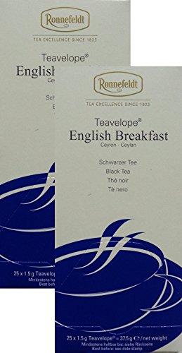 Ronnefeldt-Teavelope -2er Pack- English Breakfast - Schwarzer Tee - 2x25x1,5g Teebtl.