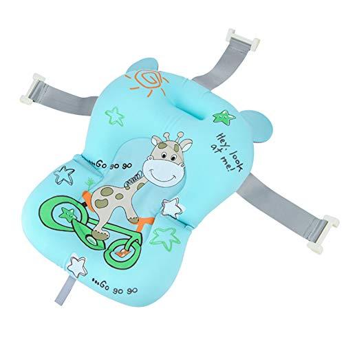 Domybest - Cojín de baño flotante para bebé, diseño de vaca, alfombra de baño antideslizante para recién nacido, cómodo cojín flotante para bañera y bebé