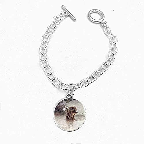 Aluyouqi Co.,ltd Collar con diseño de ratón y pingüino Pulsera de cabujón de Cristal Redondo Pulseras de Plata brazaletes para Mujeres niñas Hombres niños joyería de Regalo