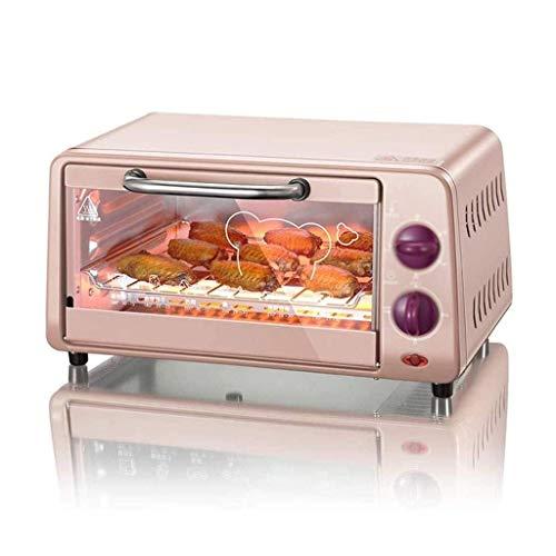 Wghz Mini-Ofen mit Backblech 800W 10L Elektroofen Doppelschicht-Backofen Multifunktionaler vollautomatischer Kleiner Ofen für Brot, Huhn, Bratei, Toast