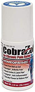 CobraZol Topical Roll-On Pain Relief Gel (2oz) - Athlete Tested and Approved to Alleviate Muscle Aches and Joint Pain