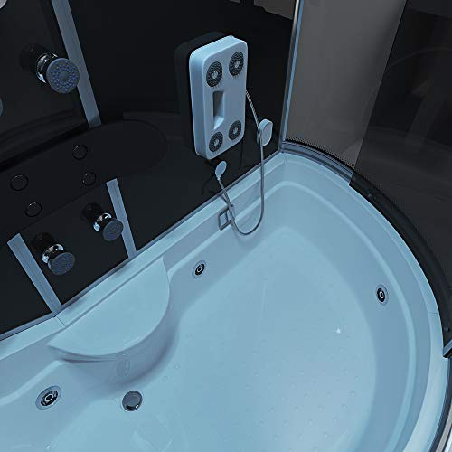 Home Deluxe ALL IN 4in1 Duschtempel, inkl. Dampfsauna und komplettem Zubehör (schwarz, rechts) - 4