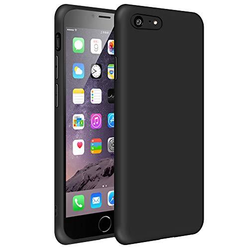 SDTEK Custodia iPhone 8 (Nero) Cover Case Bumper Caso Matte Matte Silicone Gel per iPhone 8/7 / SE 2020