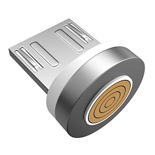 H HILABEE Cable de Carga USB magnético, Cargador de Cable Multi 3 en 1 con LED para Android, múltiples adaptadores de Carga Micro-Tipo C para HTC - Tipo D
