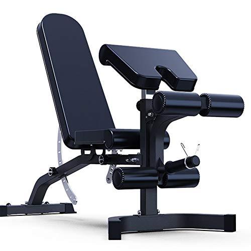 WDXLT Hantelbank,Multi-Zweck Professionelle Hantelbänke,Kommerziell Ergonomischem Fitnessbank,Ganzkörper-Workout Einfache Lagerung