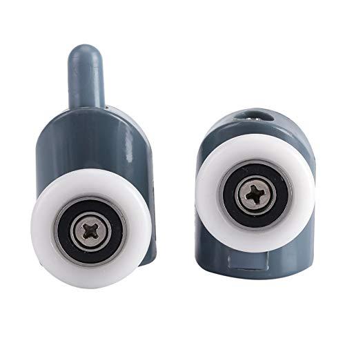 Junluck Duschtürrollen, leicht zu reinigende Türrollen, geräuscharme Flaschenzugrollen, Badezimmerduschkabinen(Single Round)