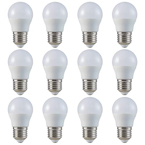 ZONE LED SET - E27 - G45-5.5W - LED Lampe - Warmweiss (2700K) - 470 Lm - Entspricht 40W - Abstrahlwinkel 180° - 12-er Pack