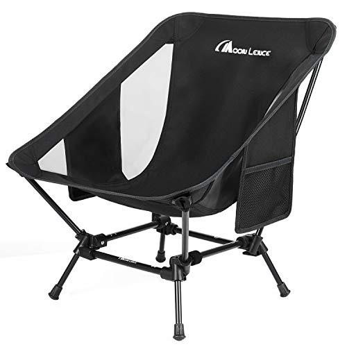 Moon Lence アウトドアチェア 2wayローチェア より安定 キャンプ椅子 グランドチェア 軽量 折りたたみ コンパクト ハイキング お釣り 登山 耐荷重150kg