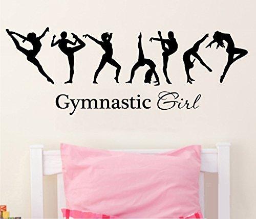 tellMeo Wandtattoo/Vinyl-Wandaufkleber, Motiv Gymnastic Girl/Turnen, für Schlafzimmer, Wohnzimmer, Sportraum