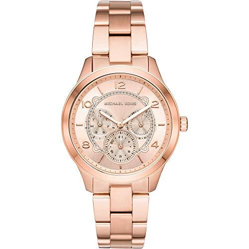 Michael Kors Damen Analog Quarz Uhr mit Edelstahl Armband MK6589