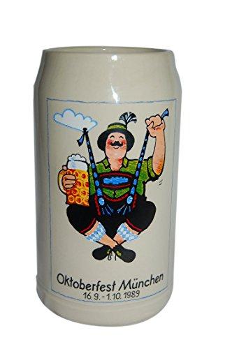 Beste Auswahl, Oktoberfestkrug 1989, Offizieller Jahreskrug, Plakatmotiv, Wiesn-Krug, Wirte-Krug, Sammelkrug, Bierkrüge, Brauerei-Krug