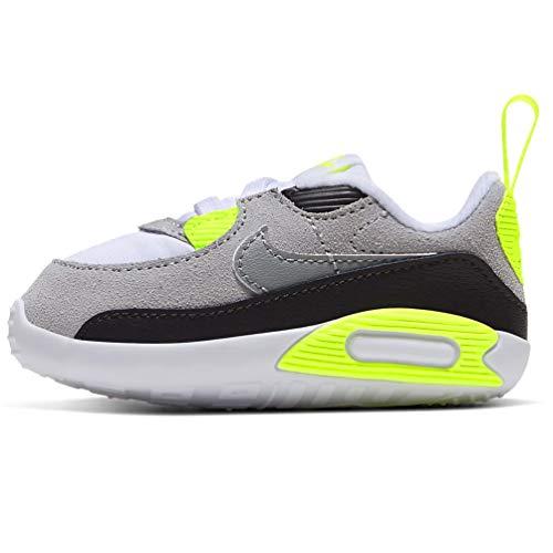 Nike CI0424-101, Sneaker Unisex niños, White/Particle Grey-Lt Smoke Grey-Volt, 17 EU