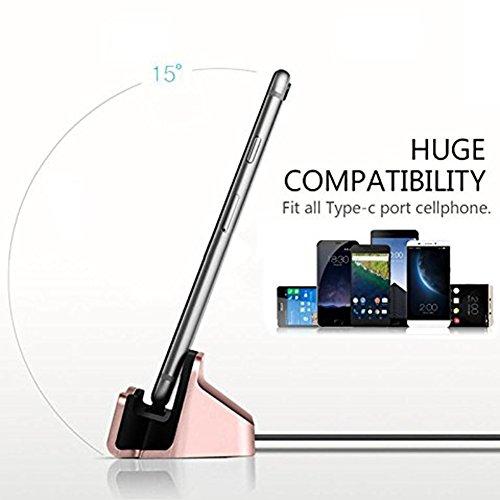 MaxKu Typ-C Dockingstation Ladestation (inkl. 1m Kabel) Desktop Dock Halter Ladegerät Ständer mit USB-C Anschluss für Huawei P20 / Huawei P20 Pro/Huawei P20 lite, Schwarz - 6