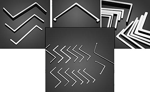 10 Spanner - 10 teiliges Spannerset Lock Picking, Lockpicking, Übungsschloss knacken Practice Lock Schlösser knacken - Hobby - Übungsschloss Manipulationszylinder- Geocaching